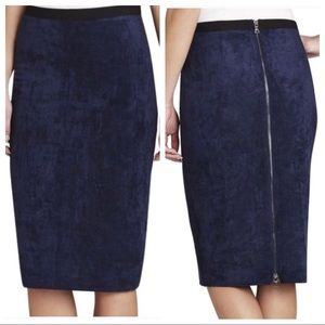 BCBG real suede pencil skirt